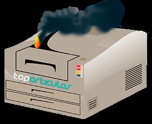 impresora en mal estado