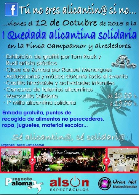 Cartel de la 1ª quedada solidaria del Grupo.