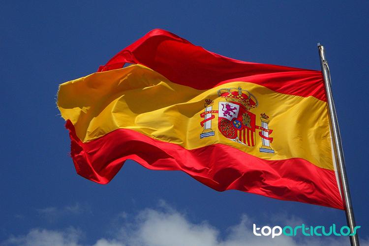 Bandera Española ondeando