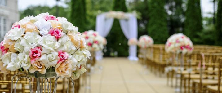 decoración en una boda