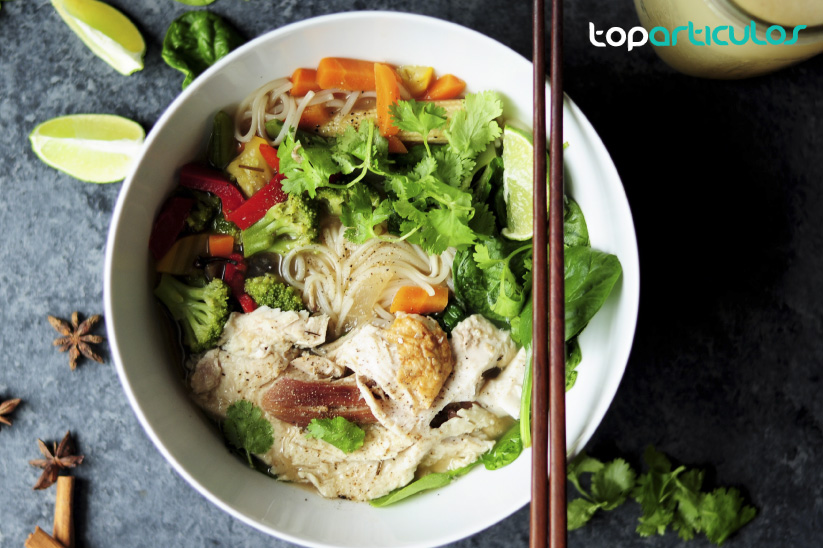Noodels, plato típico en la dieta japonesa