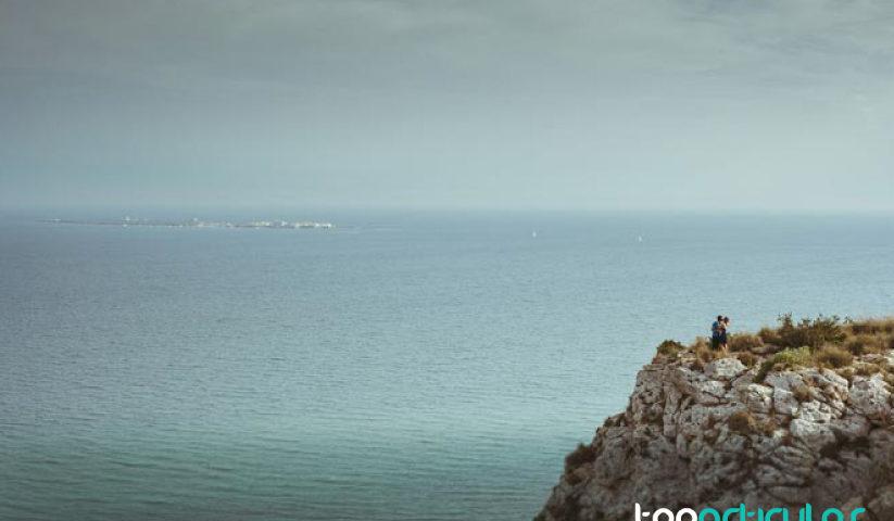 Vistas desde lo Alto de Santa Pola, Alicante.
