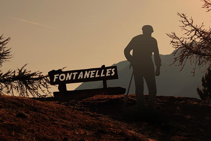 Hombre haciendo senderismo en Fontanelles
