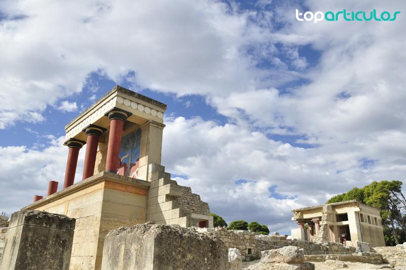 Palacio Knossos, en la isla griega Creta.