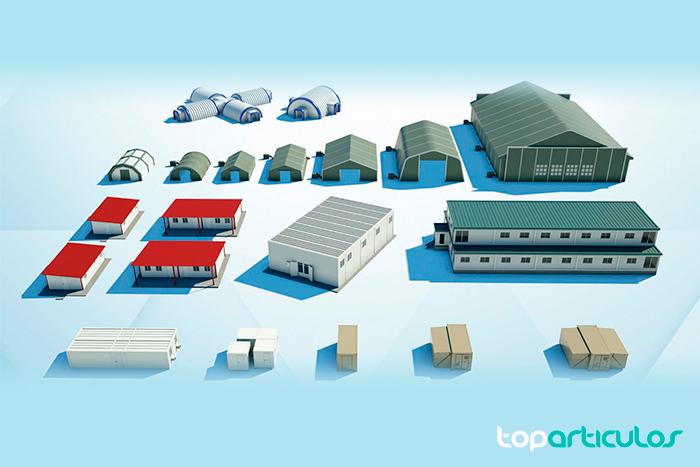 Diversos tipos de construcción modular prefabricada