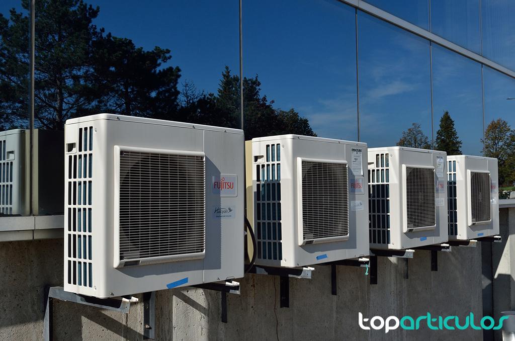 Compresor de aire acondicionado.