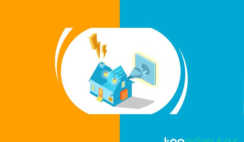 Consumo eléctrico de una vivienda en España.