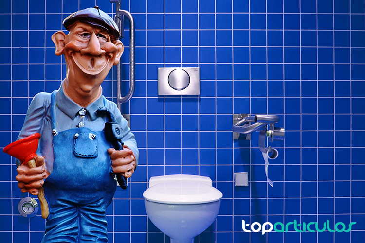 Vista de un profesional de la fontanería